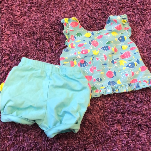 Other - Baby Girl Tropical Tank and Short Set Sz 3M